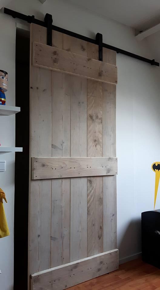 Steigerhout schuifdeur barndeur vanlonden steigerhout - Schuifdeur deur ...