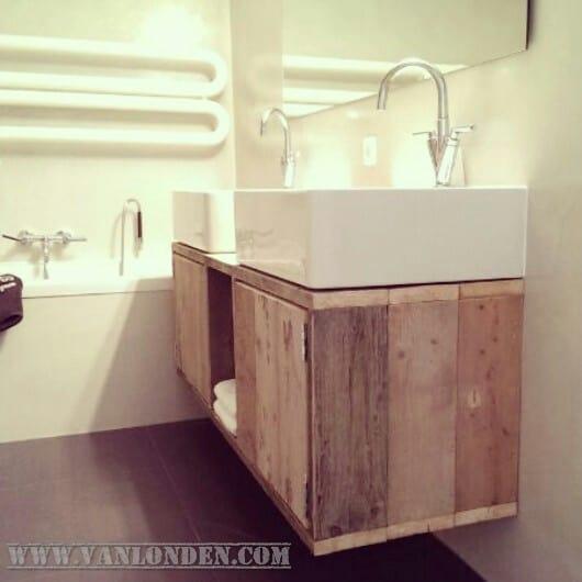 Steigerhouten badkamermeubel Otis (Steigerhouten kasten bestel je online)