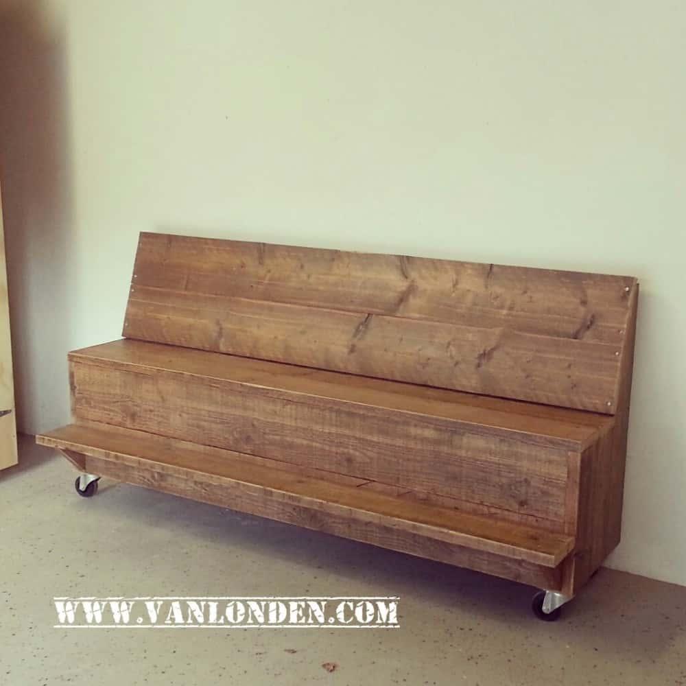Actieve zitbank van steigerhout Jill (Actieve steigerhouten zitbanken bestellen)