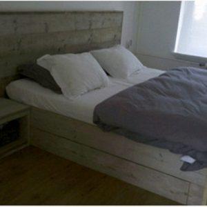 Steigerhouten bed Amber (Steigerhouten tweepersoonsbedden online bestellen)