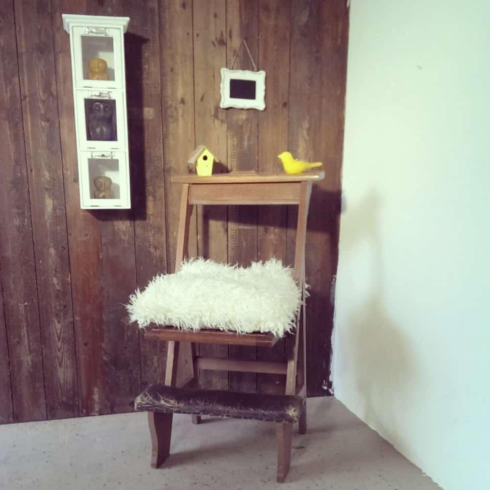 Steigerhouten bidstoeltje Adam (Steigerhouten stoelen online bestellen)