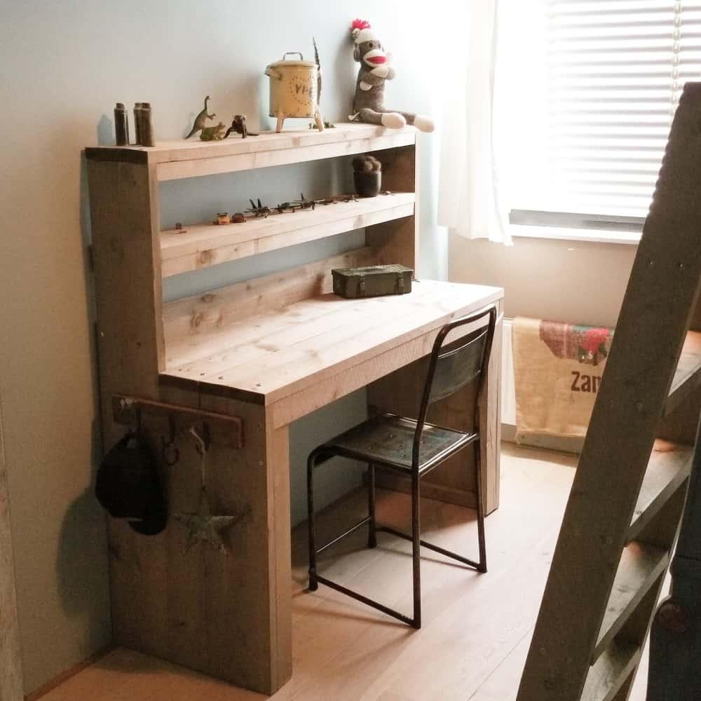 Steigerhouten bureau Barto (Steigerhouten bureaus op maat gemaakt 2)
