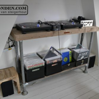 Steigerhouten DJ meubel VanLonden 1