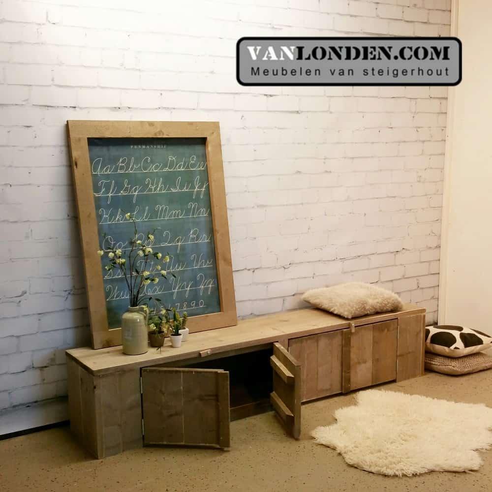 Steigerhouten dressoir / TV-meubel Dirk (Steigerhouten dressoir kasten bestellen)