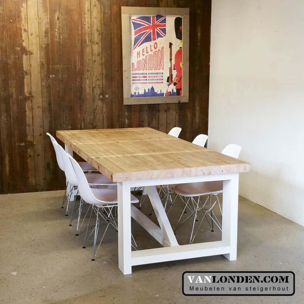 Eettafel Michael van oude bowlingbaan (Steigerhouten eettafels online bestellen)