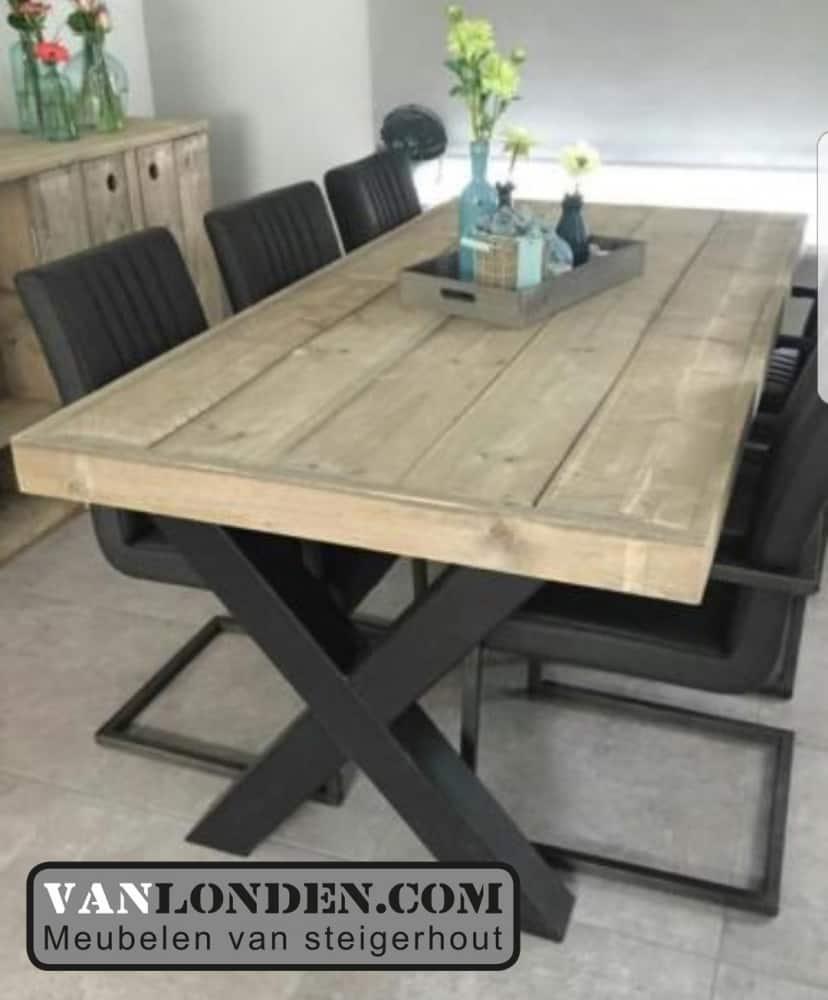 Mooie Steigerhouten Eettafel.Steigerhouten Tafel Evert Bestel Online Van Londen