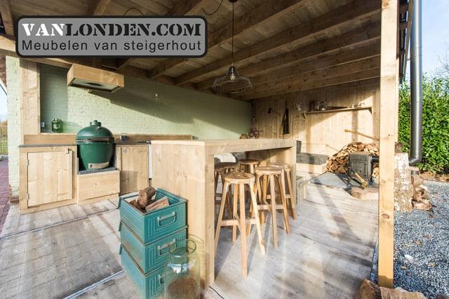 Steigerhouten hoge tafel Olaf (Steigerhouten tafels online bestellen)