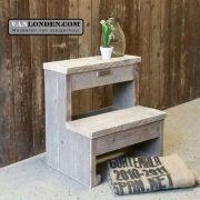 Steigerhouten keukentrapje Jos (Steigerhouten accessoires online bestellen)