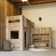 Steigerhouten hoogslaper Jelte (Steigerhouten kinderbedden online bestellen)