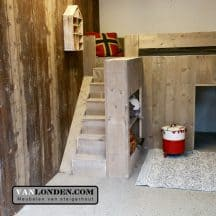 Steigerhouten kinderbed Jelte (trap links) (2)
