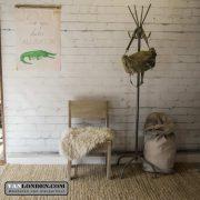 Steigerhouten kruk/stoel Carolien (Steigerhouten krukken online bestellen)