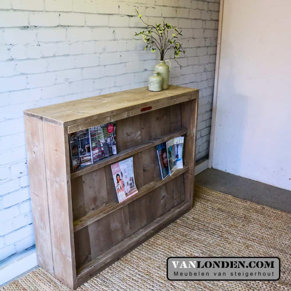 Steigerhouten Tijdschriftenkast Roomdivider Jerome Vanlonden Steigerhout