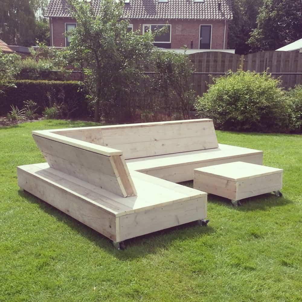 Steigerhouten lounge bank felix vanlonden steigerhout for Steigerhout loungeset zelf maken