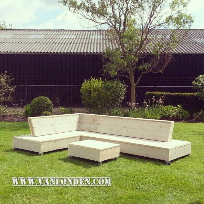 Steigerhouten lounge bank Felix (Actieve steigerhouten zitbanken bestellen)