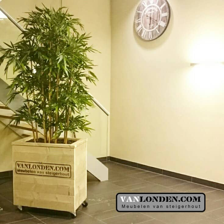 Steigerhouten bloembak / plantenbak Leon (Steigerhouten accessoires online bestellen)