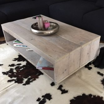 Steigerhouten salontafel Puck (5)