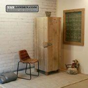 Steigerhouten smalle kledingkast Sven (Steigerhouten kledingkasten online bestellen)