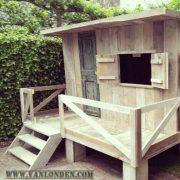 Steigerhouten speelhuis Quinten (Steigerhouten speelhuizen op maat gemaakt)