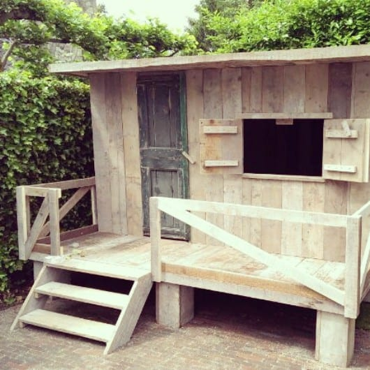 Steigerhouten speelhuis Quinten