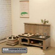 Steigerhouten speelkeuken Kyra (Steigerhouten accessoires online bestellen)