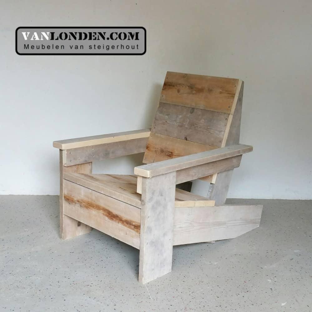 Steigerhouten design stoel Gerrit (Steigerhouten stoelen online bestellen)