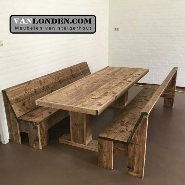 Steigerhouten tafel Tonny (Steigerhouten tafels online bestellen)