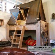 Steigerhouten tentbed Tommy (Steigerhouten kinderbedden online bestellen)