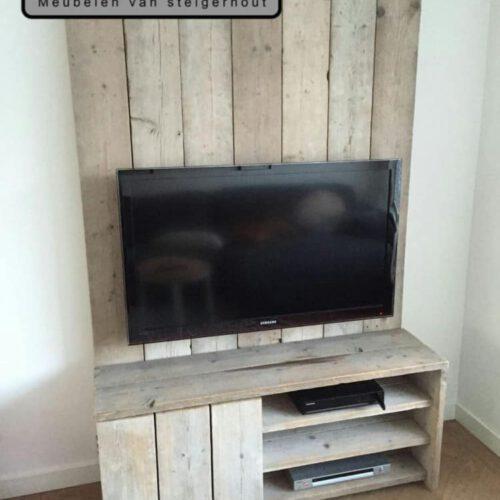 Steigerhouten tv-meubel Mathijs (Steigerhouten TV-meubels op maat)