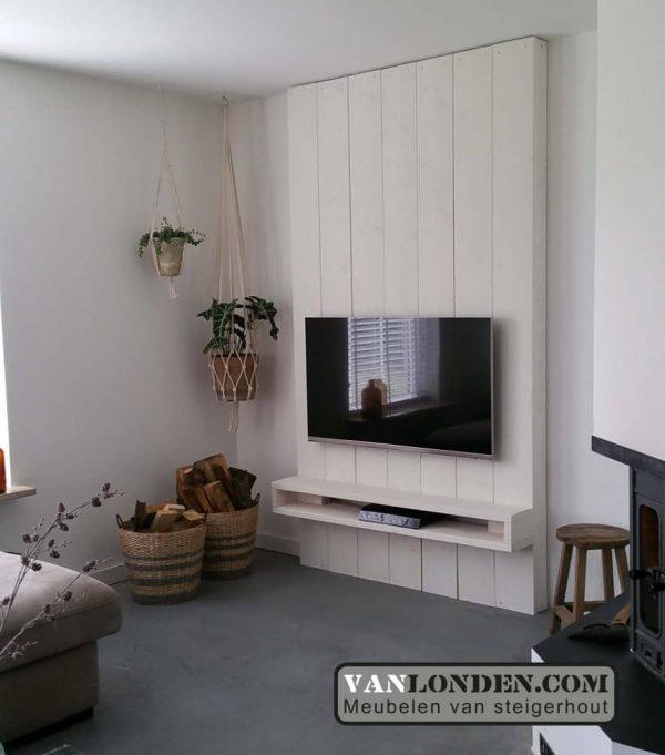 Tv Meubel Wand.Steigerhouten Tv Meubel Olaf Vanlonden Steigerhout