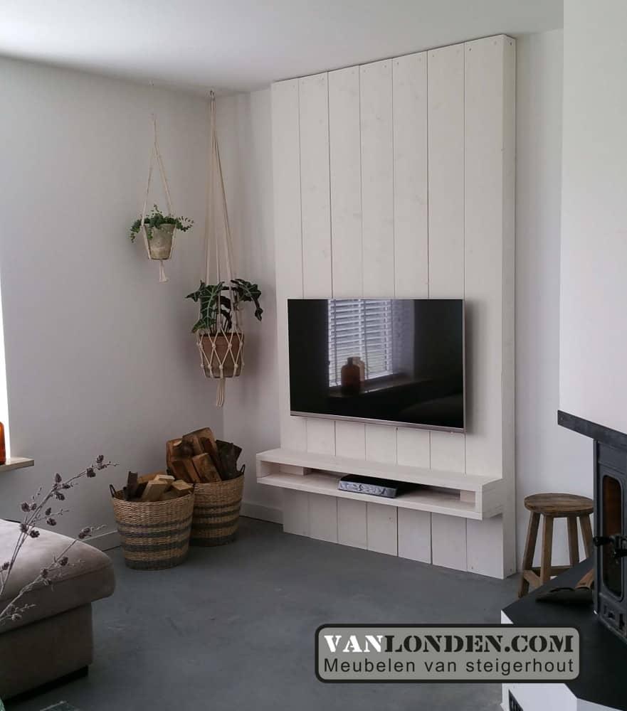 Steigerhouten tv meubel olaf vanlonden steigerhout for Steigerhout tv meubel maken