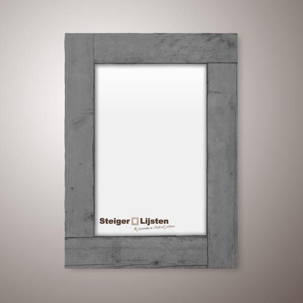 steigerlijst grey wash smal (Steigerhouten smalle fotolijst bestellen)