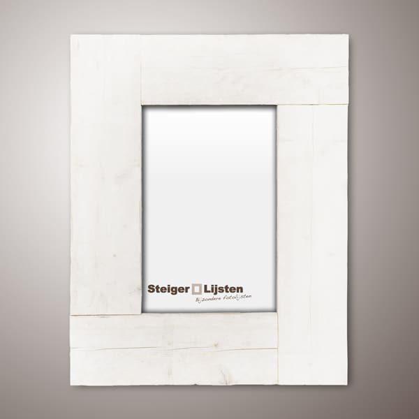steigerlijst white wash breed (Brede fotolijsten van steigerhout online bestellen)