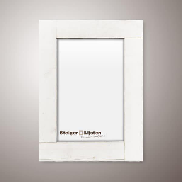 steigerlijst white wash smal (Steigerhouten smalle fotolijst bestellen)