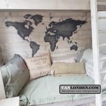 Stoer Werelds stapelbed kaart