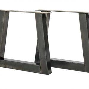 "Tafel onderstel stalen ""trapezium"" Noa (Steigerhouten eettafels online bestellen)"