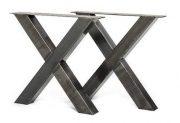 Tafel onderstel stalen kruis X Marlon (Steigerhouten eettafels online bestellen)