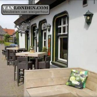 Terras café het Engeltje steigerhout VanLonden 4