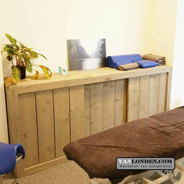 Wonderbaarlijk Steigerhouten dressoir met schuifdeuren Elles - VanLonden Steigerhout KW-17
