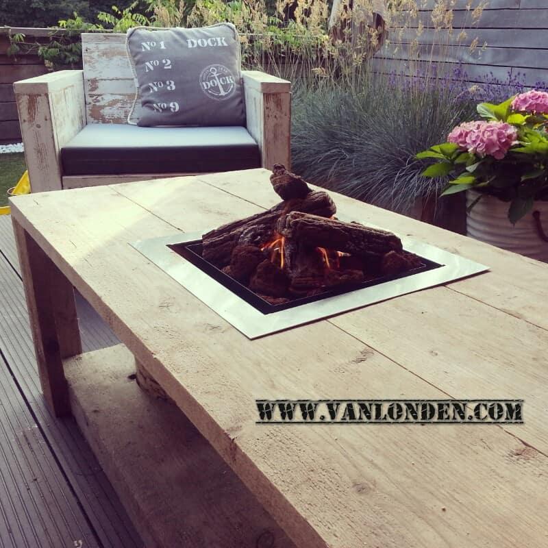 Steigerhouten vuurtafel Victor (Steigerhouten salontafels online bestellen)