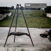 Basale Vuurdrager 2.0 | Rusty (Steigerhouten meubelen voor outdoor)