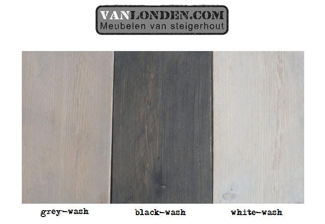 Dressoir Steigerhout White Wash.Whitewash Greywash Blackwash Afwerkingen Vanlonden Steigerhout