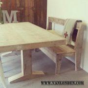 Steigerhouten tafel Wouter (Steigerhouten eettafels online bestellen)